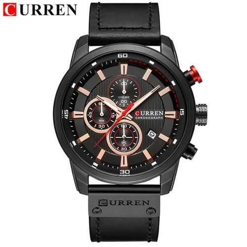 CURREN Chronograph # 8291 Black